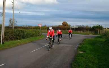 The team cycling