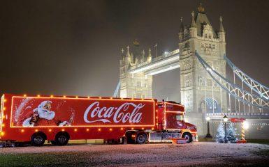 The Coca-Cola truck