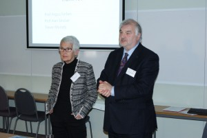 Clinical Lead Professor Alan Sinclair with Jenny Hirst from the InDependent Diabetes Trust