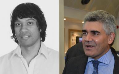 Dr Partha Kar and Professor Jonathan Valabhji
