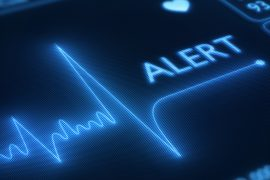 Medical alert over insulin pump device