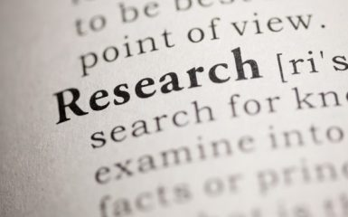 The word research in a dictionary