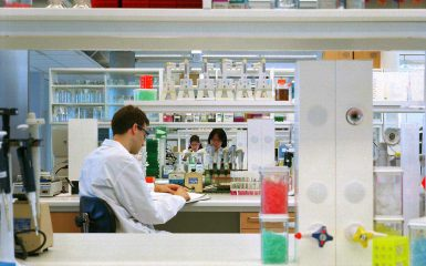 Scientist in a AstraZeneca lab