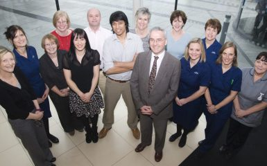 Dr Partha Kar and the Portsmouth team