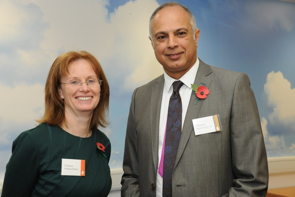 Professors Melanie Davies and Kamlesh Khunti