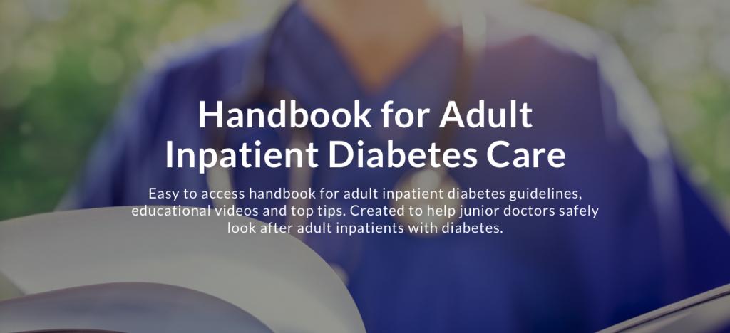 New junior doctor handbook shares inpatient diabetes advice
