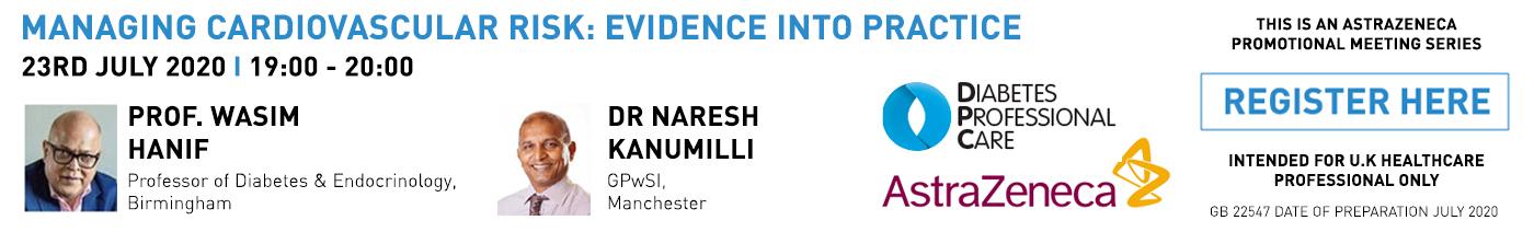 Managing Cardiovascular Risk: Evidence into Practice Prof Wasim Hanif & Dr Naresh Kanumilli